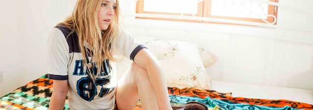 Lissie Maurus on Bed Dazing into Space