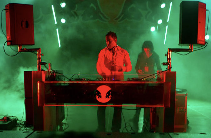 DJ Kibo and m. sylvia at North Coast Music Festival 2010