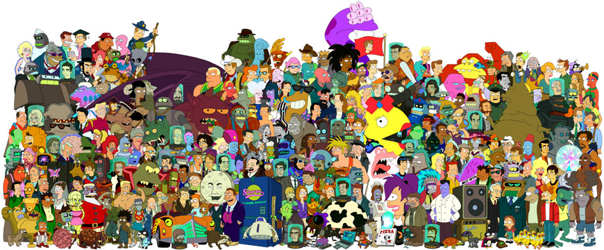 All of the Futurama Cast
