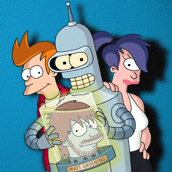 Futurama - Bender, Fry, Leela