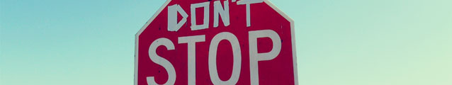 Dont Stop (bannering)