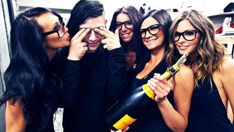 Skrillex and the Ladies