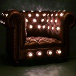 A chair that has glow holes