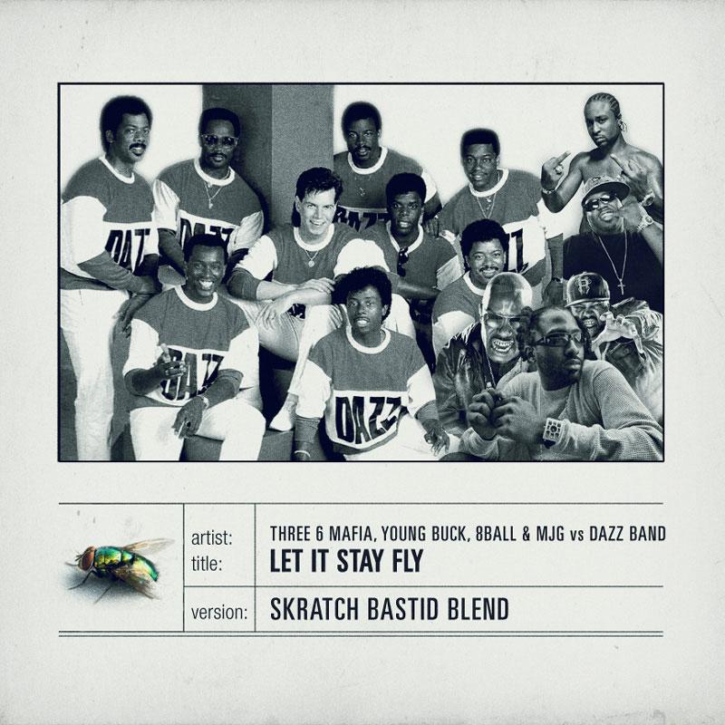 Skratch Bastid Blend - Three 6 Mafia and Dazz Band (Artwork)