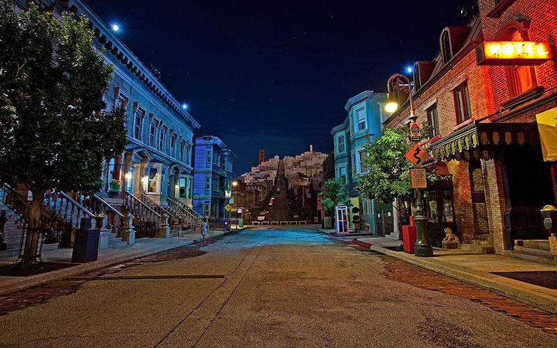 San Francisco Streets at Night