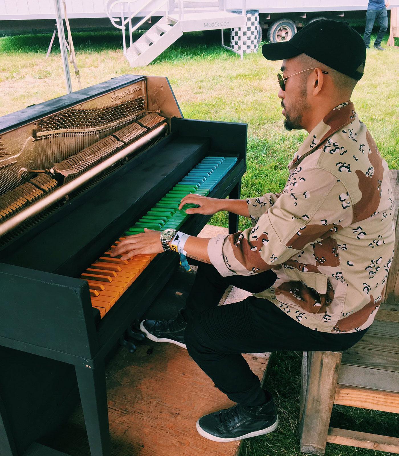 Pat Lok on Piano
