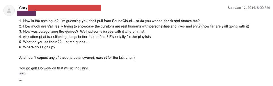 Beats Music's First Subscriber