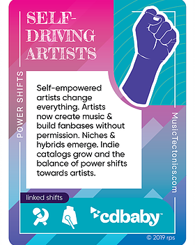 Self Driving Artists Power Shifts by Music Tectonics